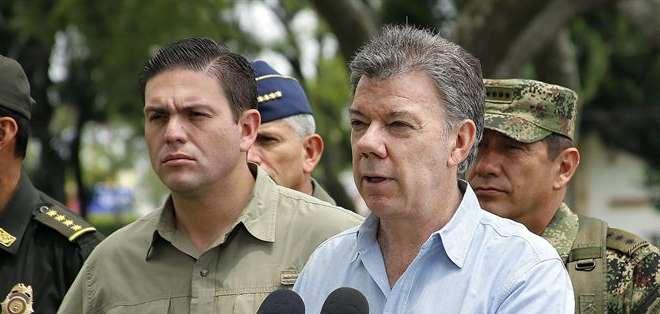 """COLOMBIA.- """"Esta es precisamente la guerra que queremos y que tenemos que terminar"""", determinó Santos. Foto: EFE"""
