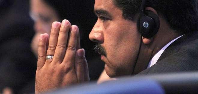 Maduro criticó el martes que el Congreso de los Diputados de España pida liberar presos políticos opositores. Foto: AFP