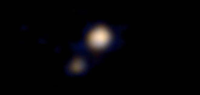 La imagen fue tomada el 9 de abril desde una distancia de unos 115 millones de kilómetros.