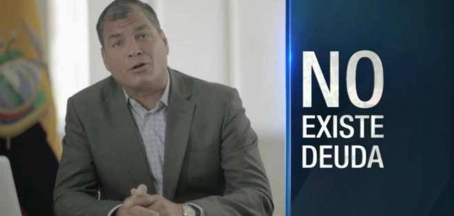 El presidente Rafael Correa asegura que no van tocar las pensiones jubilares.