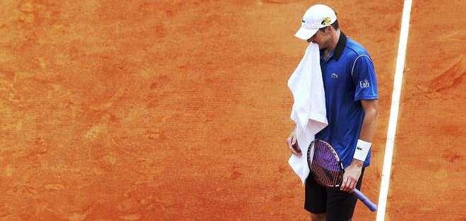 Isner lamenta la derrota con el español (Foto: EFE)