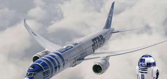 JAPÓN.- El diseño del avión, un Boeing 787-9 Dreamliner, fue revelado durante una convención para fanáticos. Foto: Internet