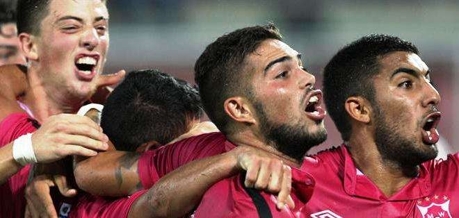 Los jugadores de Wanderers celebran la clasificación (Foto: EFE)