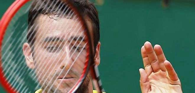 Cilic en su partido con 'Nole' (Foto: EFE)