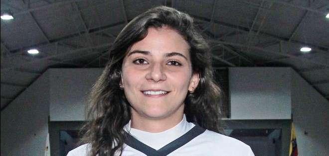 Daniela Feressi del equipo de la Universidad San Francisco (Foto: API)