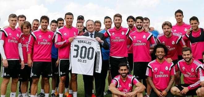 El jugador recibió un homenaje. Foto: Real Madrid.