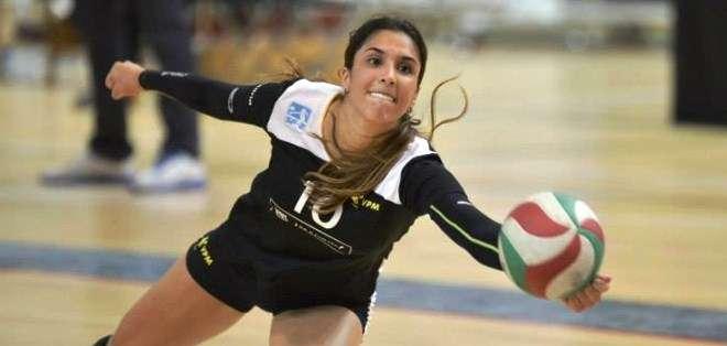 Daniela Ospina, la figura del equipo VP Madrid (Foto: Voleyplayamadrid.com)
