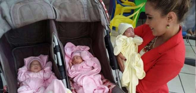 ECUADOR. Los cuatrillizos, quienes nacieron en El Puyo a las 32 semanas de gestación, fueron atendidos en el Hospital Francisco de Ycaza Bustamante.