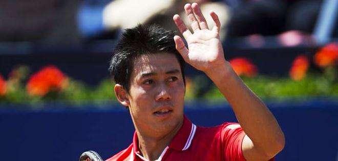 Kei Nishikori, saludando al público tras su triunfo (Foto: EFE)