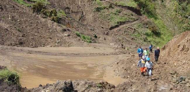 IMBABURA.- El suceso provocó que decenas de cultivos quedaran en mal estado.  Fotos: Web