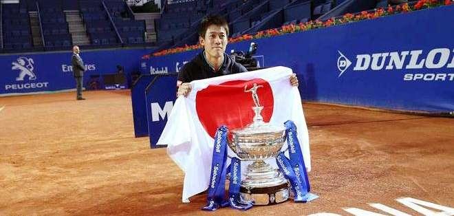 Kei Nishikori, tenista japonés, ganador del ATP de Barcelona (Foto: EFE)