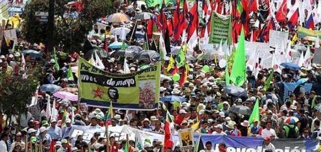 El sector progobierno espera decenas de miles de ecuatorianos en las calles respaldando las políticas laborales del régimen.