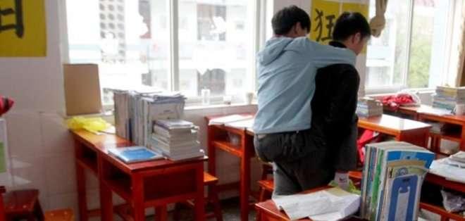 Estos dos jóvenes son amigos desde hace 3 años, momento en que Xu se ofreció volutario para ayuda a Chi.
