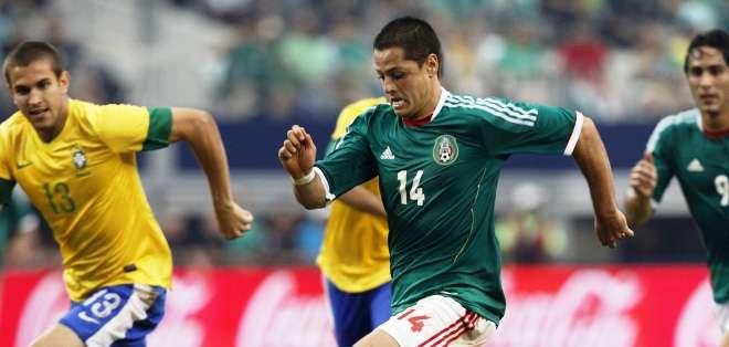 'Chicharito' Hernández, la principal figura de la selección mexicana (Foto: Internet)