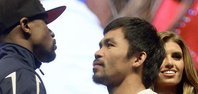 Es la primera vez en el deporte del boxeo que se ha cobrado la entrada para presenciar el pesaje. Foto: EFE.