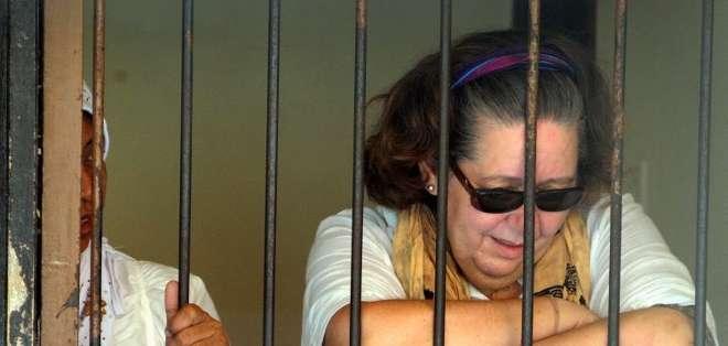 Lindsay Sandiford, de 58 años fue detenida con un cargamento de cocaína valorado en $2,4 millones. Fotos: AFP.