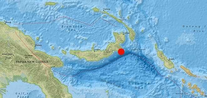 El sismo provocó una alerta de tsunami en un área de 300 kilómetros en torno al epicentro.  Foto: Web.