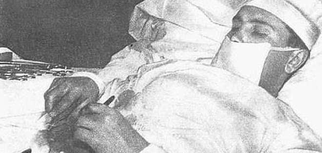 Leoníd Rogozov es un médico ruso que se encontraba en plena expedición en la Antártida en abril de 1961. Fotos: ABC