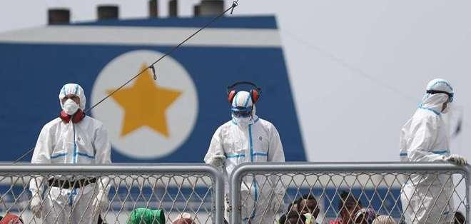 ITALIA.- Entre viernes y martes, se rescataron 9.000 personas en total en diversas operaciones. Fotos: EFE