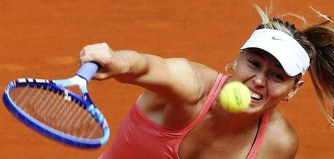 Sharapova a un paso de la final de Madrid (Foto: EFE)
