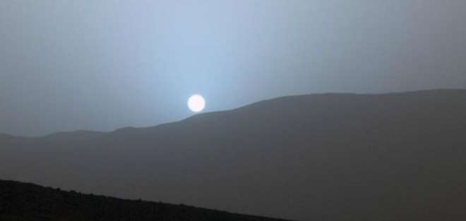 Es la primera puesta de sol captada por el robot de la NASA en Marte, Curiosity.