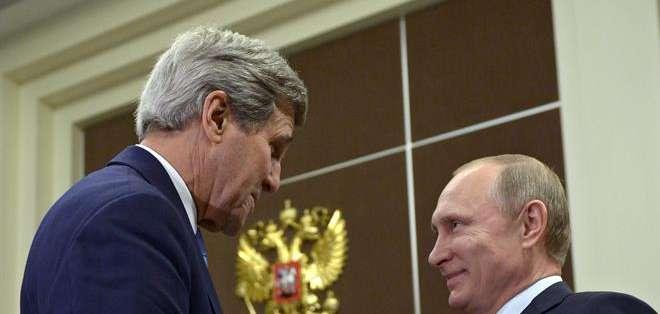 El viaje de Kerry se produce en medio de las tensas relaciones diplomáticas entre Moscú y Occidente debido a la crisis ucraniana. Fotos: EFE.