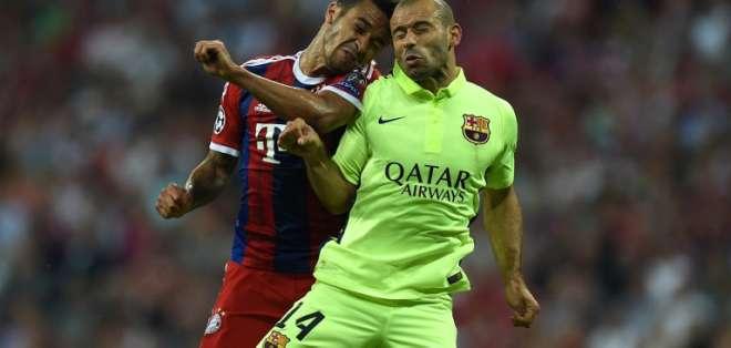El Bayern Múnich venció hoy al F.C Barcelona 3-2 pero no le alcanzó para llegar a la final. Foto: AFP