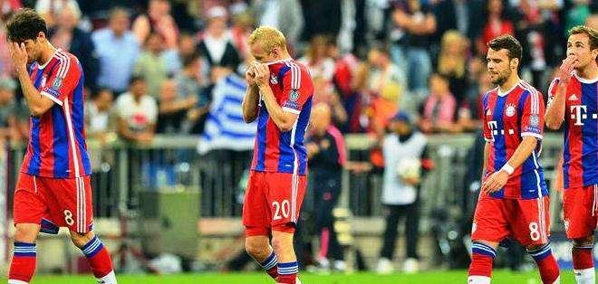 El rostro de la derrota de los jugadores del Bayern Múnich (Foto: EFE)