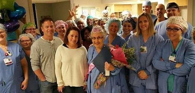 EE.UU.- Rigney nació en 1925 y desde 1946 trabaja en el Hospital General de Tacoma, en Washington. Foto: Web.