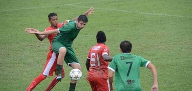 MANABÍ.- La estrella del encuentro fue Fabri Caicedo con doce tantos. Foto: Web.