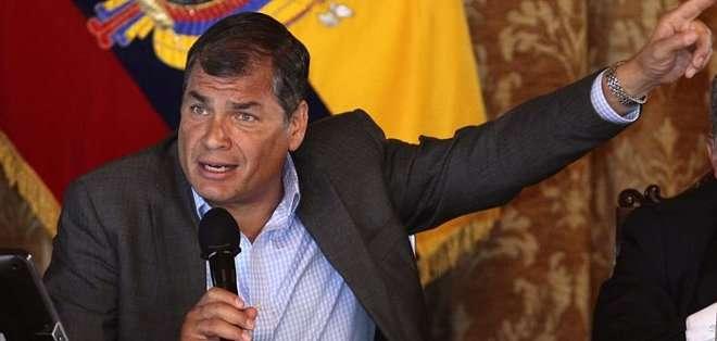 """ECUADOR. Correa se refirió también al contexto económico latinoamericano y a las voces que alertan de la desaceleración en la región que -admitió- es """"vulnerable"""" al impacto de choques externos. Foto: Archivo"""