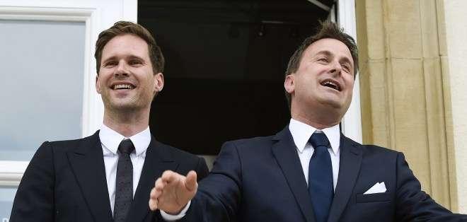 El primer ministro, de 42 años, había anunciado en agosto de 2014 su intención de casarse con Gauthier Destenay. Fotos: AFP