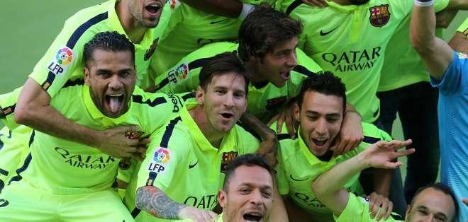 El tanto del argentino, que vale un título, el 23º de su historia en la liga, llegó en el minuto 65.