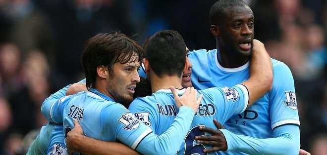 La quinta victoria seguida del Manchester City no se aclaró hasta el último cuarto de hora.
