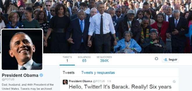 La nueva cuenta lleva el nombre de @POTUS (siglas de Presidente De Los Estados Unidos, en inglés).