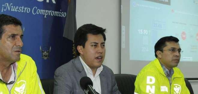 ECUADOR.- Tras varias semanas de investigación, la Policía Nacional acudió hasta las viviendas en donde se escondían 235 paquetes de clorhidrato de cocaína. Fotos: API