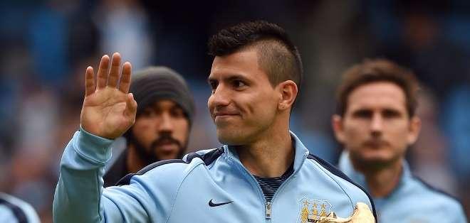 INGLATERRA.- El delantero argentino anotó uno de los tantos de la victoria del M. City, sumando 26. Fotos: Agencias