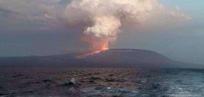 El volcán Wolf no está ubicado cerca de zonas habitadas. Fotos: Andes