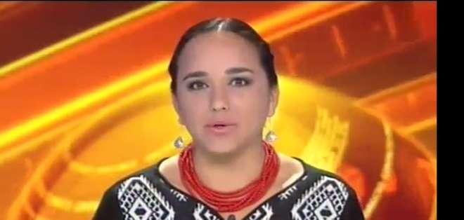 ECUADOR.- Gabriela Rivadeneira durante su entrevista en Contacto Directo. Foto: Ecuavisa