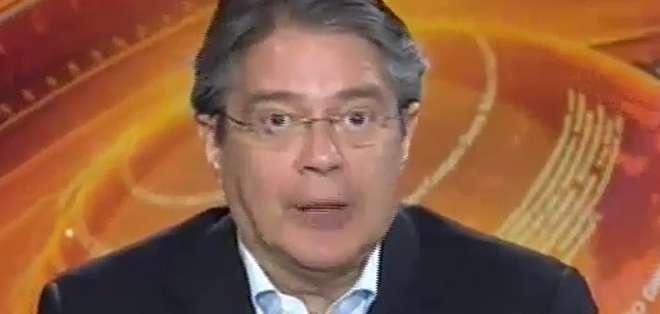 GUAYAQUIL, Ecuador.- Guillermo Lasso durante su entrevista en Contacto Directo. Foto: Ecuavisa