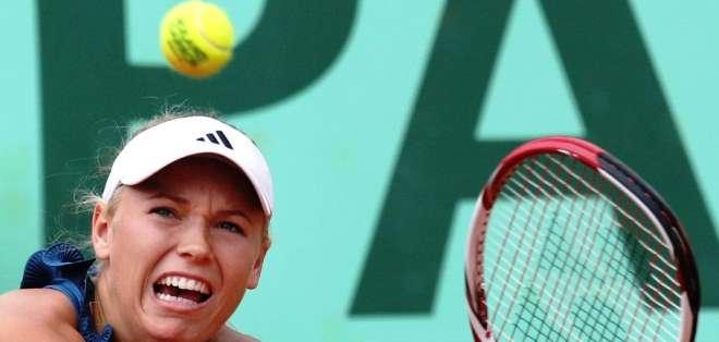 Caroline Wozniaki, tenista danesa, que fue eliminada de Roland Garros (Foto: Internet)