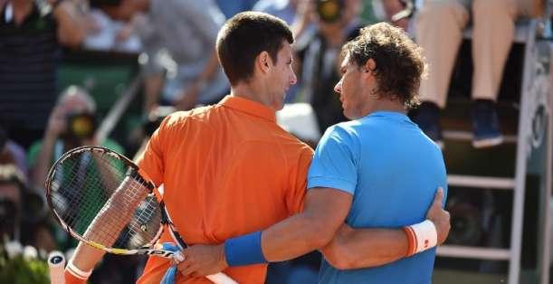 Nadal no pudo con Djokovic. Foto: AFP.