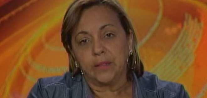 GUAYAQUIL, Ecuador.- Jenny Lara durante su entrevista en Contacto Directo. Foto: Ecuavisa