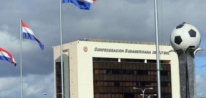 Sede administrativa de la Confederación Sudamericana de Fútbol (Conmebol) en la ciudad paraguaya de Luque (gran Asunción)
