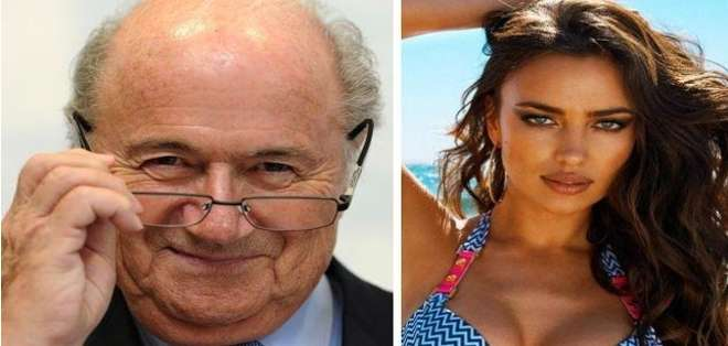 ESPAÑA.-  Según consignó el diario español El Mundo, Joseph Blatter e Irina Shayk habrían sido amantes. Foto: Web.
