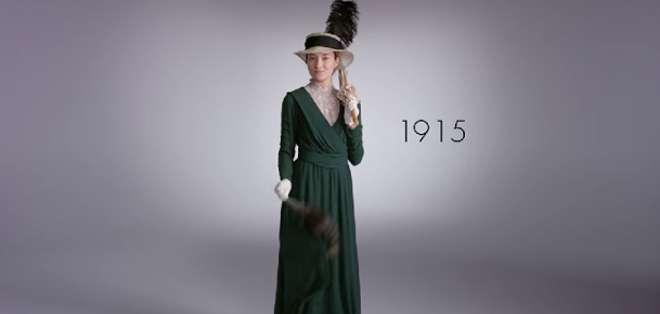 EE.UU.-  La productora Modo creó un vídeo que le da una mirada interior a la moda de una década a la siguiente.  Fotos: Captura Video.