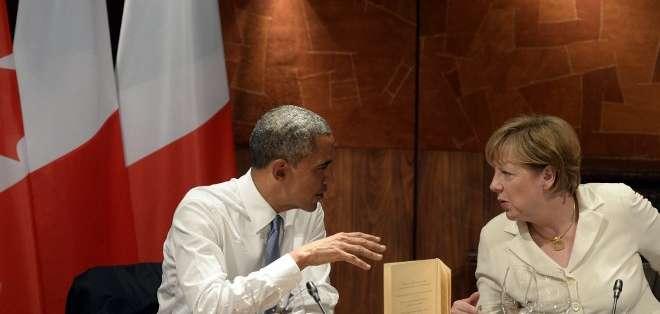 Alemania, EE.UU. y la UE reiteraron su firmeza ante Rusia en el conflicto ucraniano. Fotos: AFP.
