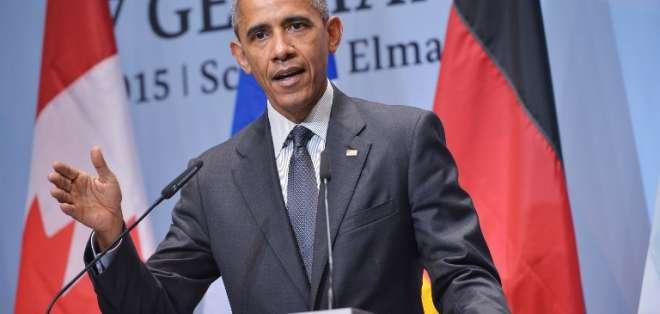 """""""Los griegos van a tener que tomar decisiones políticas duras"""", aseguró Obama. Foto: AFP"""