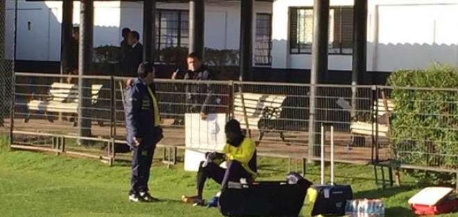 Enner Valencia se lesionó durante los entrenamientos. Foto Cortesía: Andrés Muñoz.