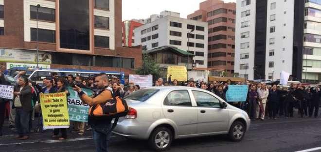 Las manifestaciones se han realizado en la Av. de Los Shyris, norte de Quito. Foto: Paúl Romero